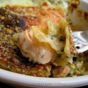 Lasagnes saumon courgettes sauce a loseille