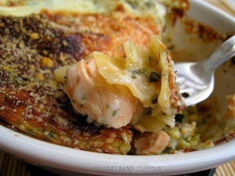 Lasagnes saumon courgettes sauce à l'oseille