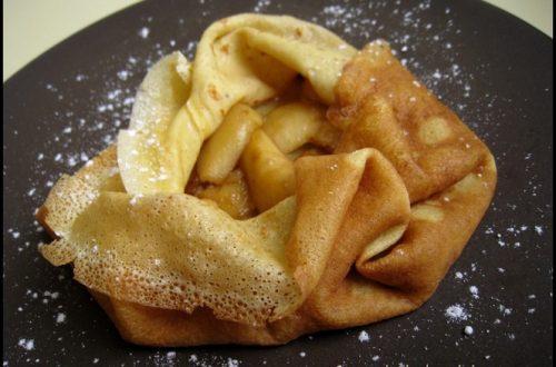 crepes pommes confiture de lait