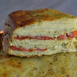 gateau invisible pdt pesto tomates sechees