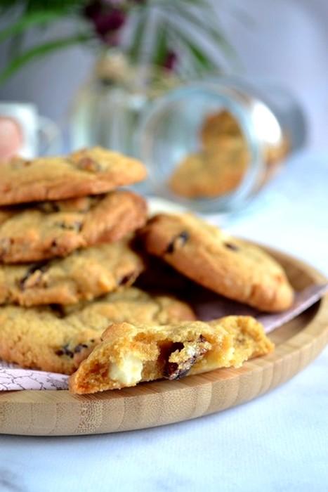 Cookies chocolat blanc cranberries