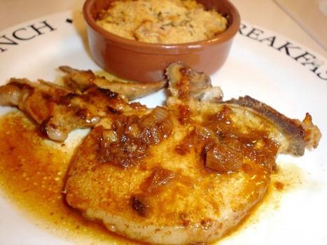 Côtes de porc à l'échalote et au paprika
