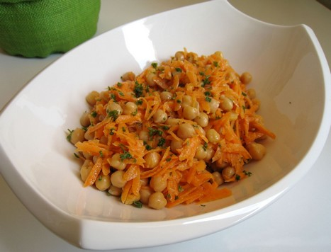 Salade de pois chiches et carottes