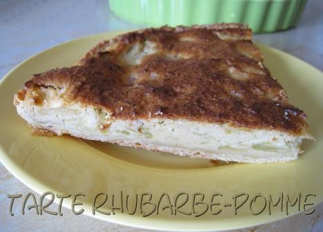 Tarte rhubarbe-pomme et crème d'amande