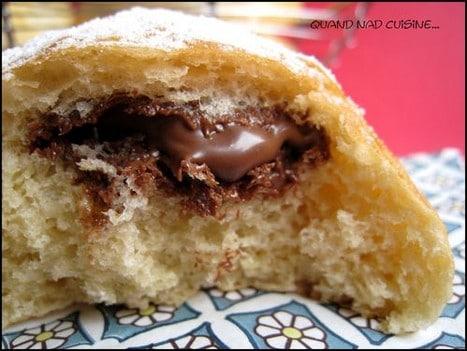 beignets au four au chocolat