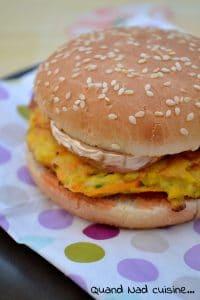 burgers aux galettes de legumes