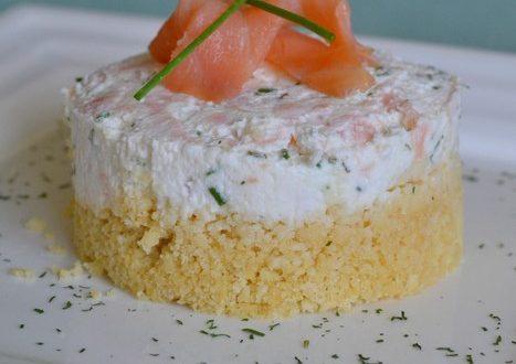 Cheesecakes au chèvre frais et saumon fumé
