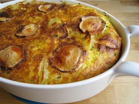 Clafoutis pommes de terre courgettes et chèvre