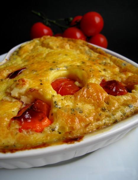 Clafoutis aux tomates cerises rôties et feta