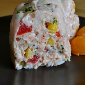 couronne saumon riz tomate