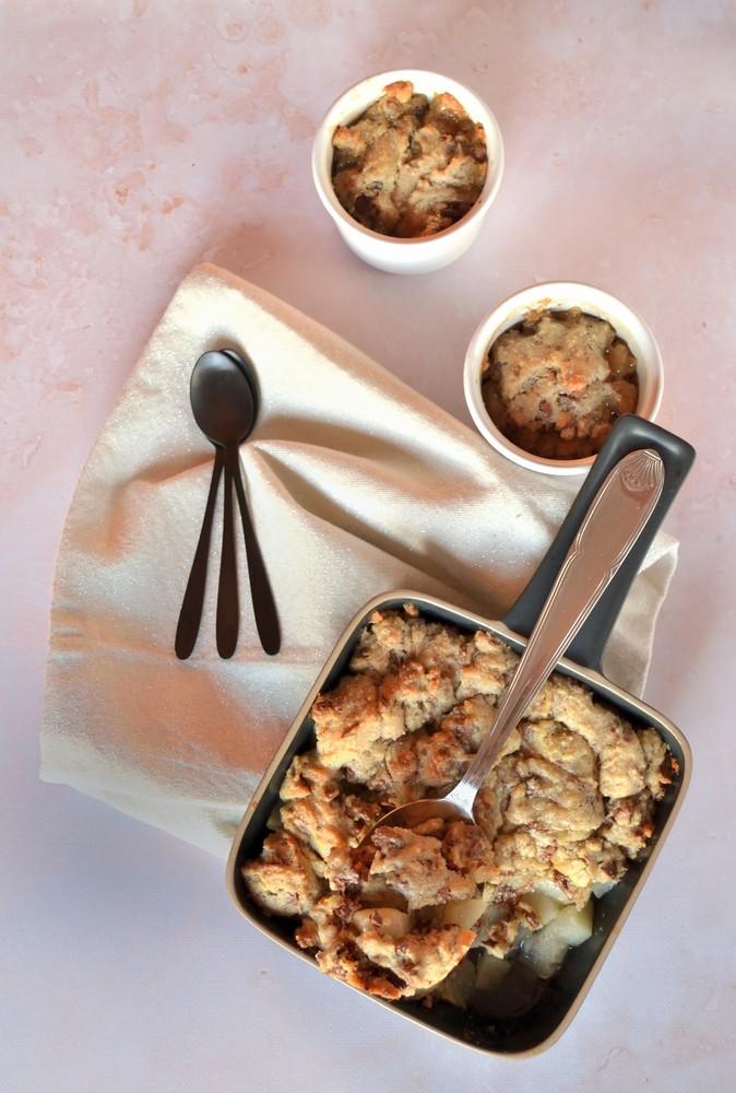crumble cookie poire caramel et chocolat1