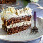 Gâteau d'anniversaire chocolat et vanille