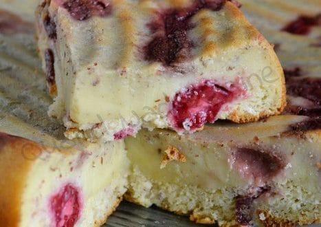 Gâteau mousse fraises et framboises