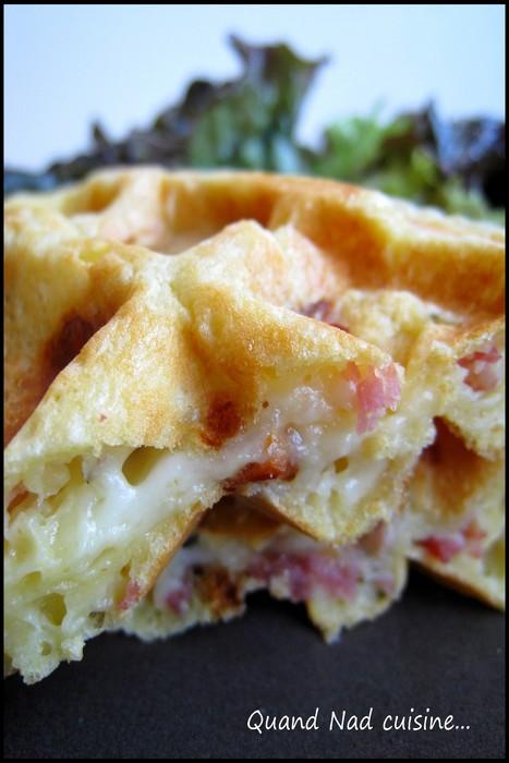 gaufres mozza tomates sechees bacon1