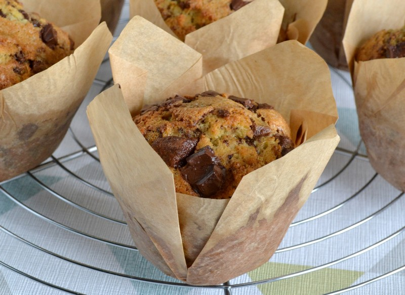 muffins americains aux pepites de chocolat 1