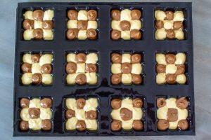 petites tablettes damier chocolat vanille