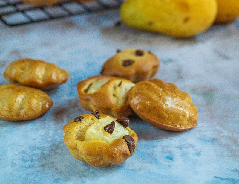 petits gateaux poire pepites de chocolat 1