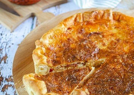 tarte cancoillote chorizo