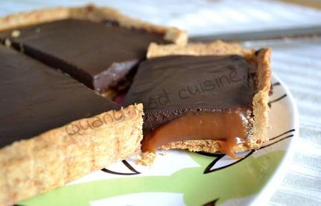 tarte chocolat et caramel au beurre sale