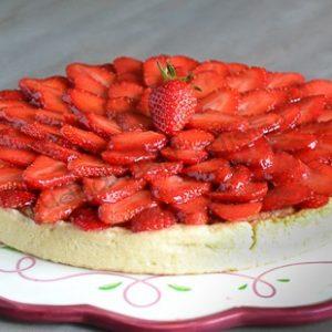 tarte fraises creme damandes