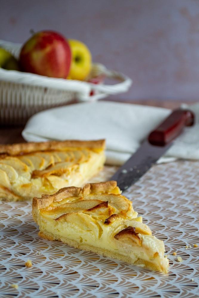 Tarte aux pommes pâtissière