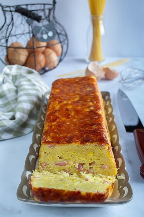 cake spaghettis carbonara