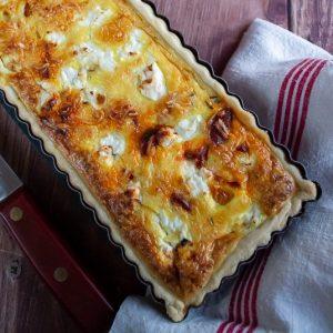 tarte butternut chorizo chevre 1