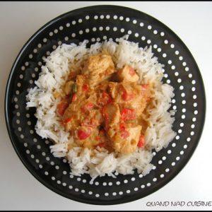 Curry vert de dinde