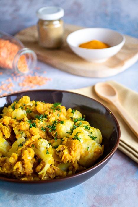 Curry de chou-fleur et lentilles corail