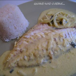 daurade lait de coco et curry