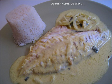 daurade au lait de coco et au curry