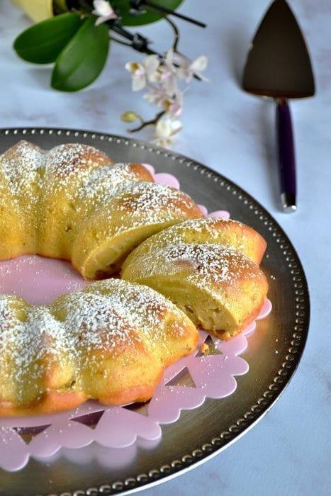 Gâteau pommes amandes et mascarpone