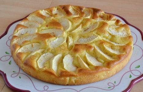 Gâteau aux pommes et au mascarpone