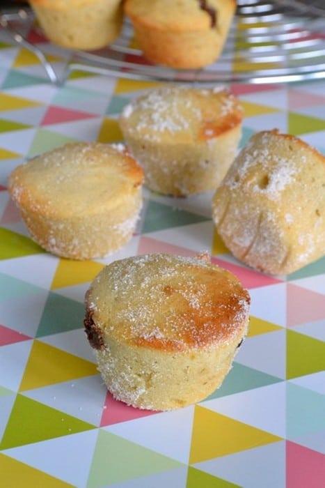 Muffins façon beignet au chocolat