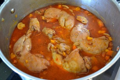 poulet façon coq au vin