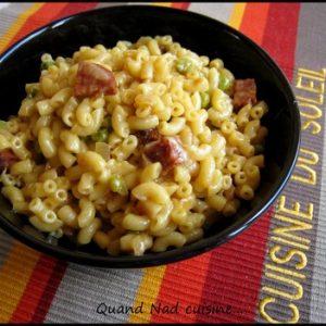 risotto de coquillettes safrane au chorizo