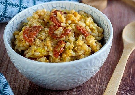 risotto poireaux chorizo 1