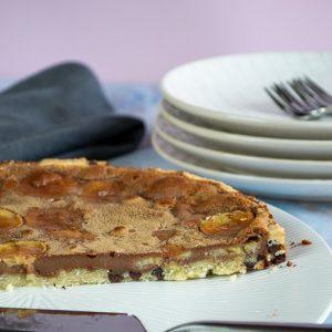 tarte aux deux chocolats et banane1