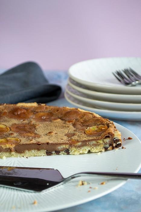 tarte aux deux chocolats et banane