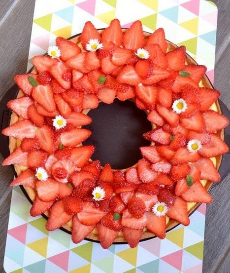 tarte aux fraises couronne
