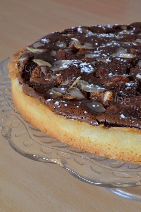 Tarte aux poires chocolat et amandes
