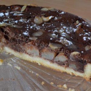 tarte aux poires chocolat amandes1