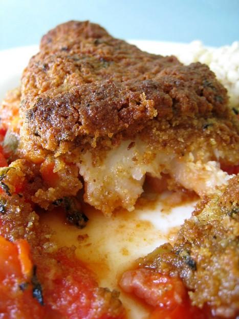 Cabillaud en croûte de curry