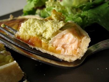 Quiches saumon-poireau