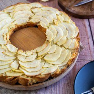 tarte aux pommes creme damandes et brioche 1