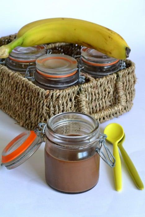 Crèmes dessert chocolat-banane
