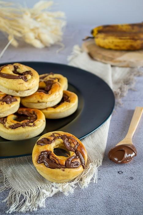 Gâteaux à la banane et à la pâte à tartiner