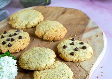 cookies aux graines de sesame