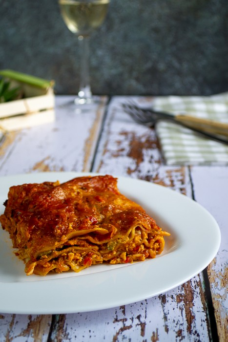 Lasagnes au poulet et aux légumes