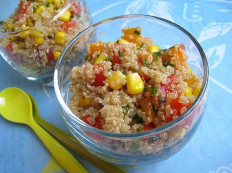 Salade croquante de quinoa aux poivrons